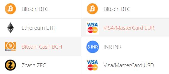 Bitcoin Cash to Euro Converter Step 1