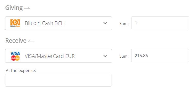 Bitcoin Cash to Euro Converter Step 2