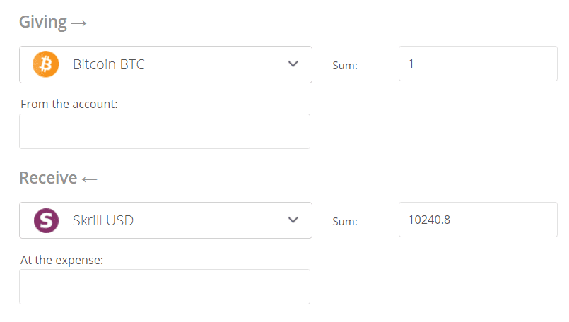 Bitcoin to Skrill Exchange Step 2