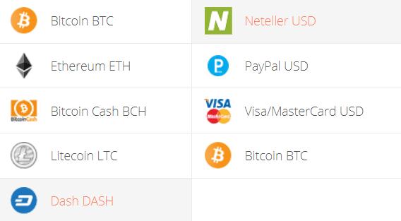 Dash to Neteller Exchange Step 1