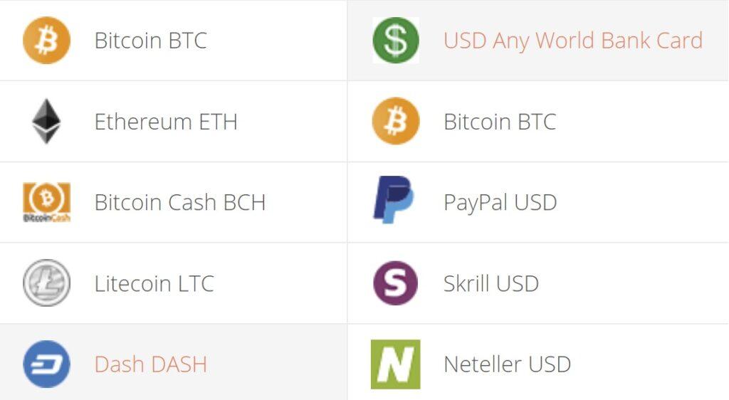 DASH to USD Convert Step 1