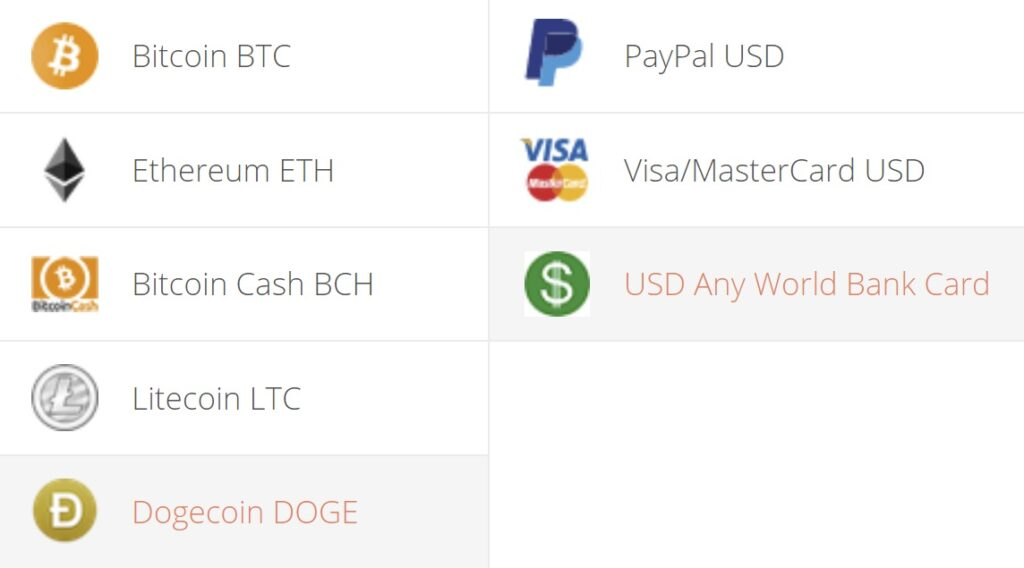 Dogecoin to USD Exchange Step 1