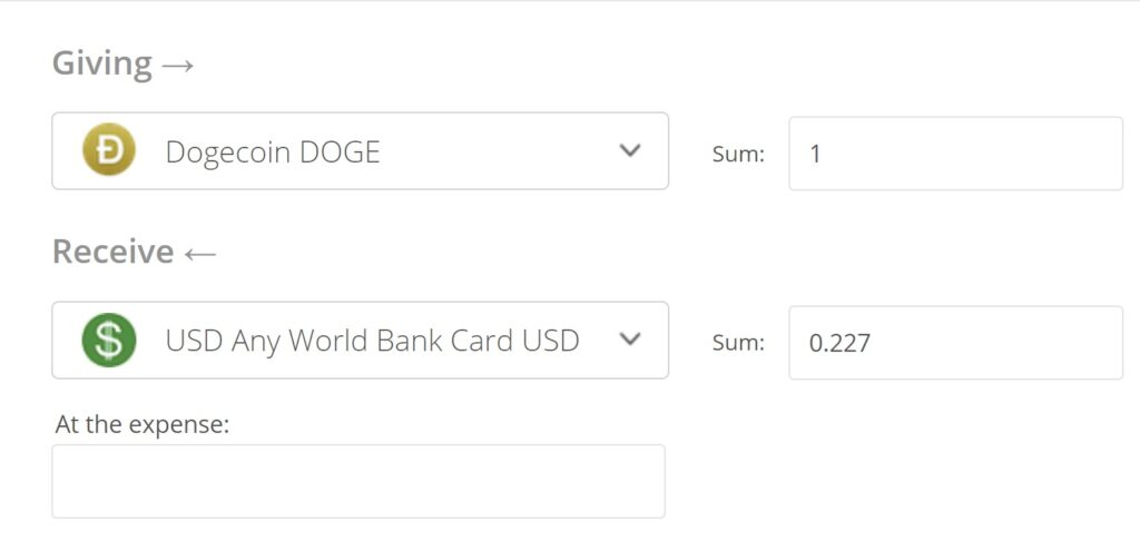 Dogecoin to USD Exchange Step 2