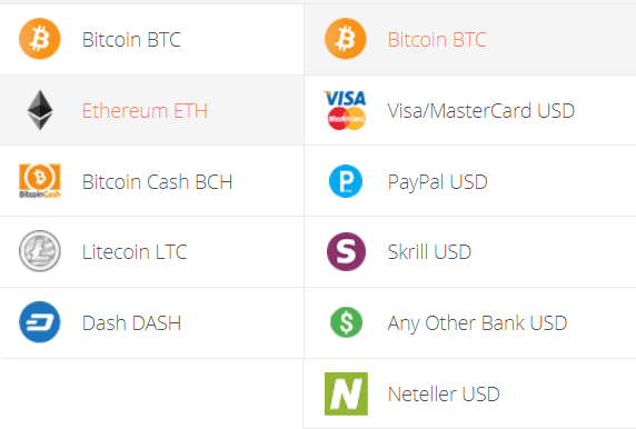 eth to btc converter, Ethereum to Bitcoin Exchange Step 1