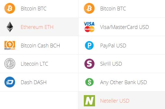 Convert Ethereum to Neteller Exchange Step 1