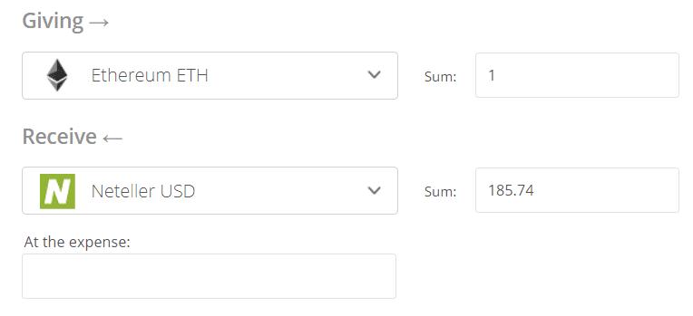 Convert Ethereum to Neteller Exchange Step 2
