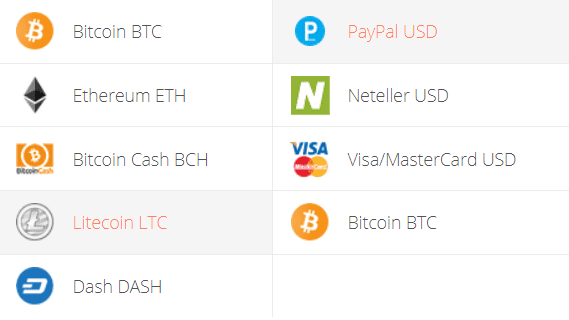 Litecoin to PayPal Exchange Step 1