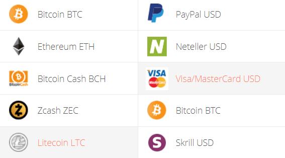 Litecoin to Visa/Mastercard Exchange Step 1