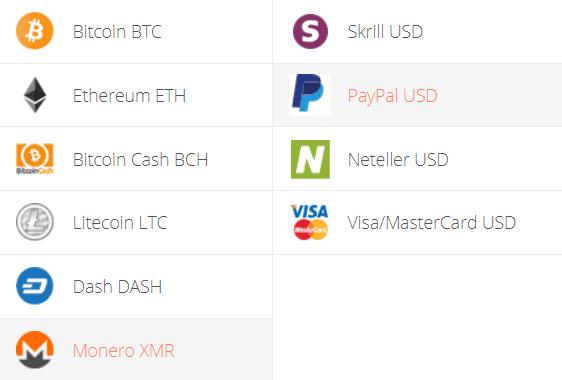 Monero to PayPal Exchange Step 1