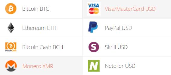 Monero to Visa/MasterCard Exchange Step 1