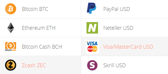 ZEC to VISA/Mastercard Exchange Step 1